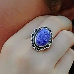 Jewelry - Charoite Silver Ring